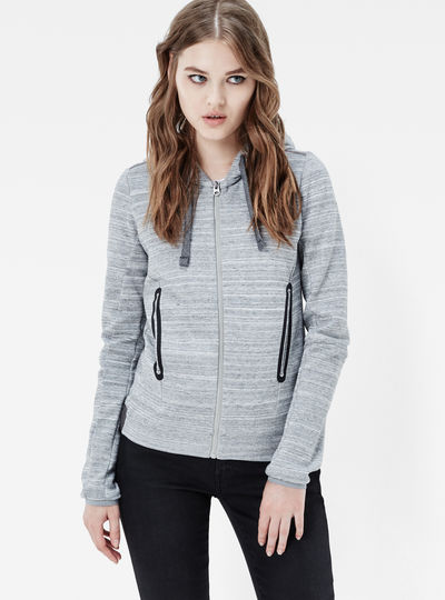 Verdah Slim Hooded Zip Sweater