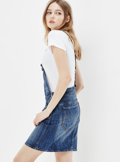 Arc Dungaree Short Dress
