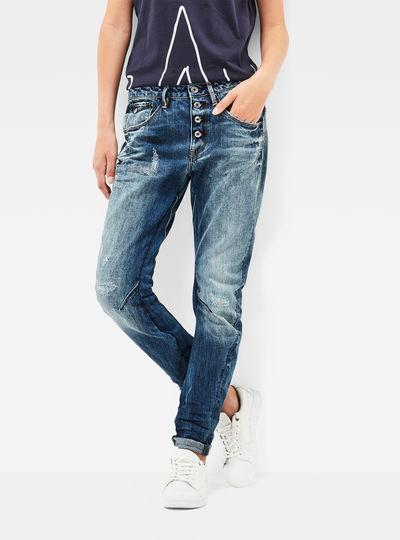 Arc 3D Button Low Waist Boyfriend Jeans