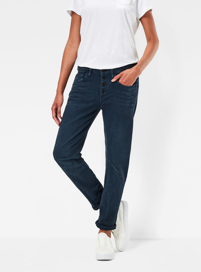 Arc 3D Button Low Boyfriend Jeans