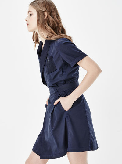 RAW Utility Wrap Dress