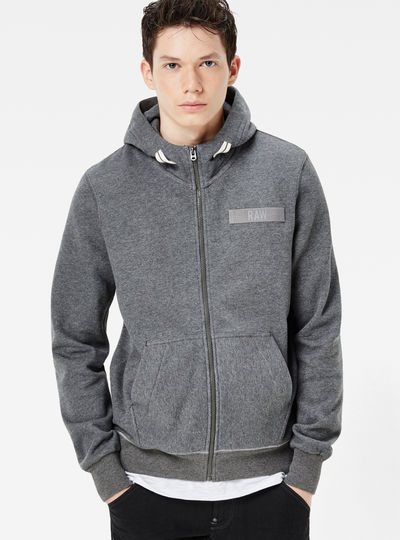 Core Hooded Zip Sweater