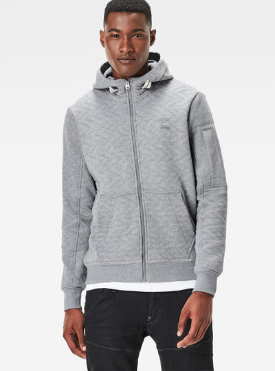 Batt Hooded Zip Sweat