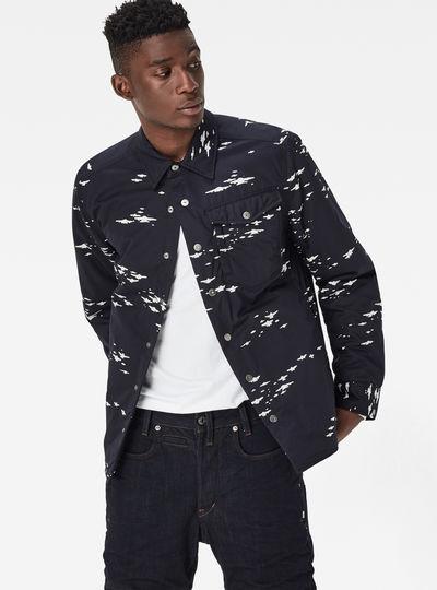 3301 Padded Long Overshirt