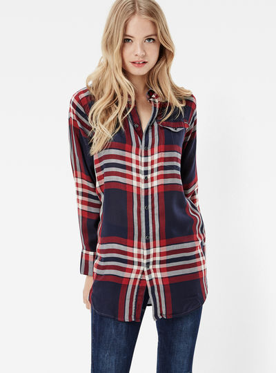Tacoma Long Check Boyfriend Shirt