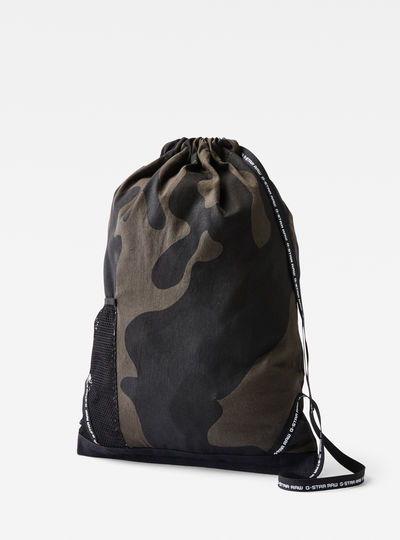 Wofes Camo Drawstring Backpack