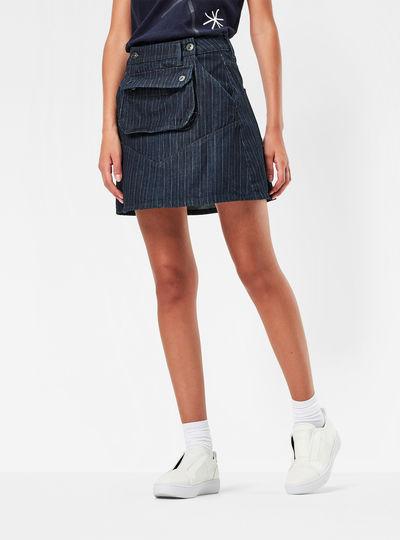 5621 Pouch A-line High Waist Skirt