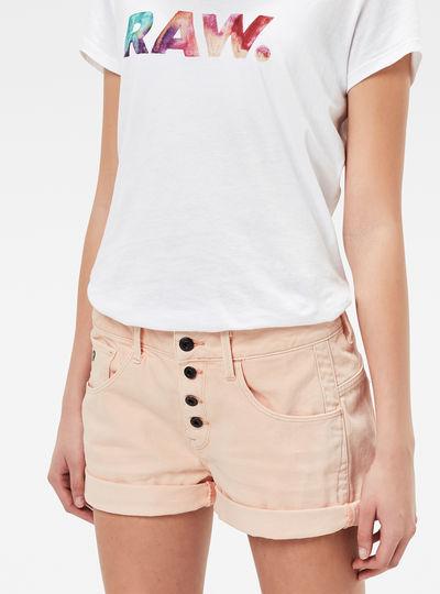 Arc Button Boyfriend Shorts
