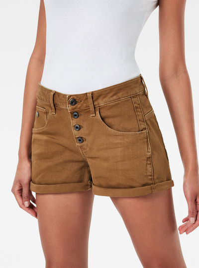 Arc Button Boyfriend Shorts