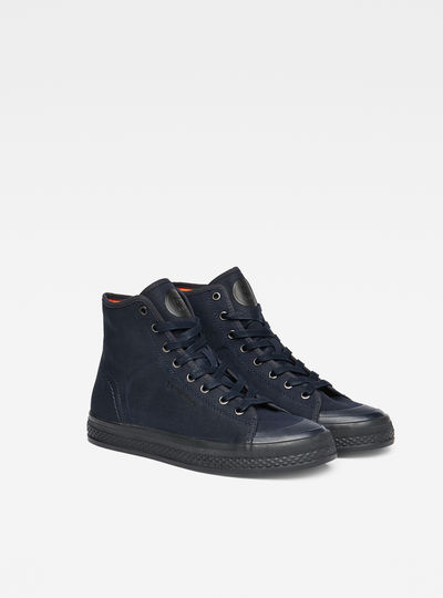 Bayton High-Top Denim Sneakers