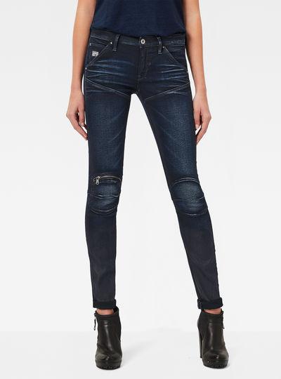 5620 G-Star Elwood Zip Mid Waist Skinny Jeans
