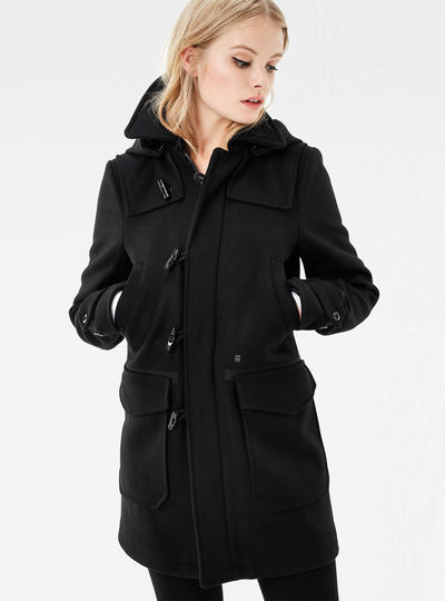 Wool Hooded Duffle Coat