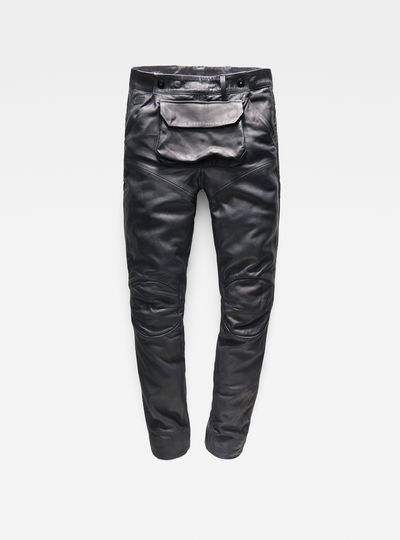 5620 G-Star Elwood 3D Pouch Leather Boyfriend Pants