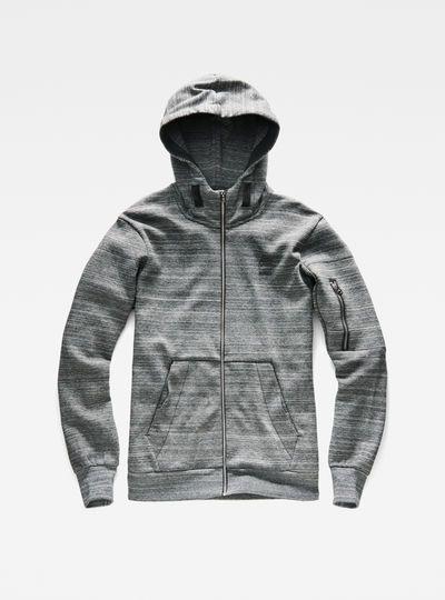Batt Hooded Zip Sweater