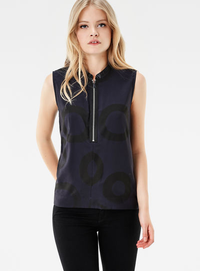 Core Zip Sleeveless Shirt