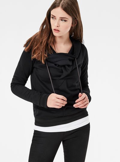 Xarin Slim Drapey Hooded Sweater