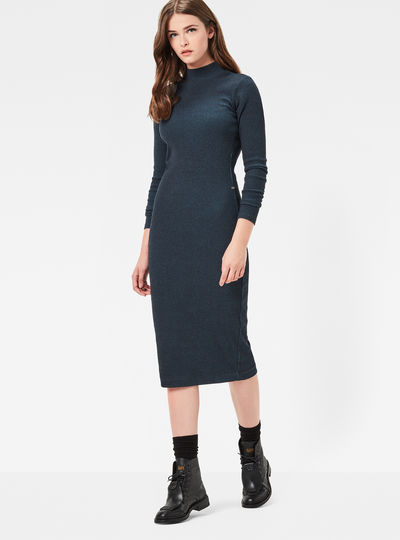 Staria Slim Long Turtleneck Dress
