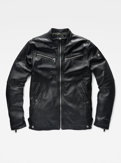 Mower Slim Leather Jacket