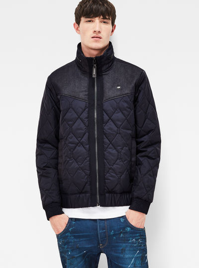 Meefic Utility Denim Quilted Slim Overshirt