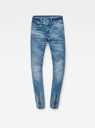 Lynn Zip-Grip Mid Waist Skinny Jeans
