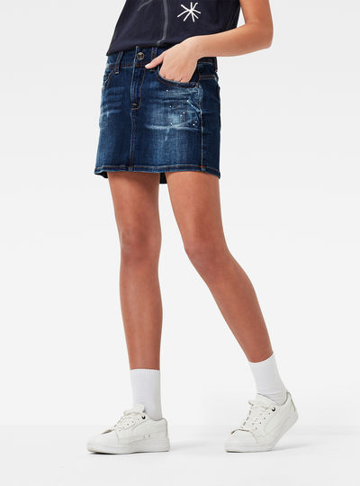 Midge Saddle Mid Rise Skirt