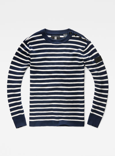 Dadin Stripe Knit Regular Fit Pullover