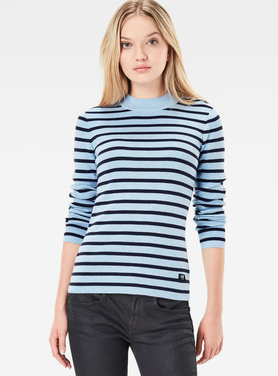 Exly Stripe Slim Knit Pullover