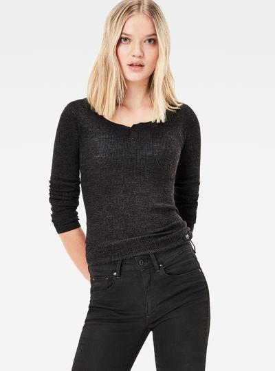 Avine Granddad Knit Pullover