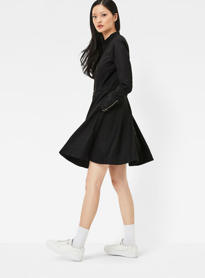 Core Slim Flare Dress