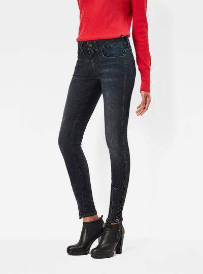 MT Lynn Zip Grip Mid Waist Skinny Jeans