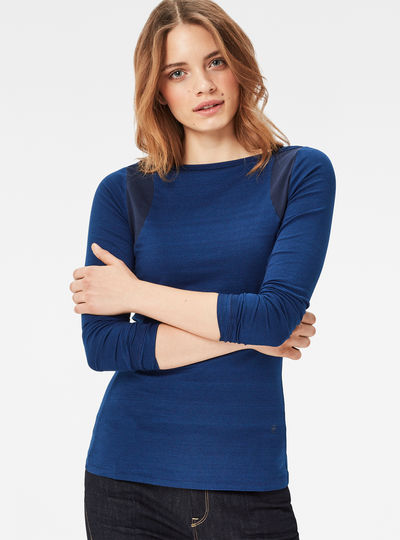 US Indigo Boatneck T-Shirt