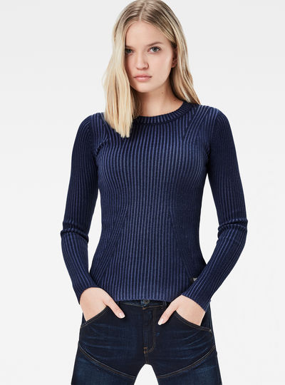 Lynn Plated Slim Knit Pullover