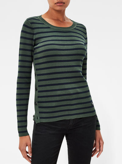 Iria Stripe Slim Knit Pullover