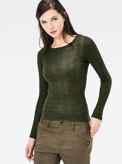 Avine Pointelle Slim Knit Pullover