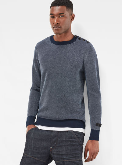 Dadin Structure Knit Pullover