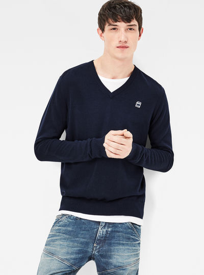 Core V-Neck Knit Pullover
