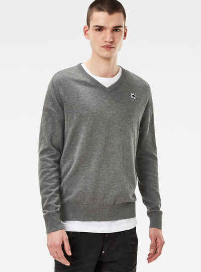 Core V-Neck Knit Pullover