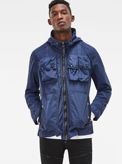 Ospak Hooded Straight Overshirt
