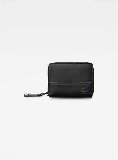 Cart Leather Zipper Wallet