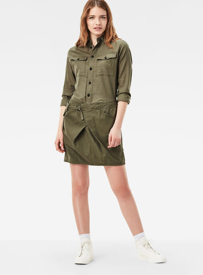 Rovic Wrap Loose Shirt Dress