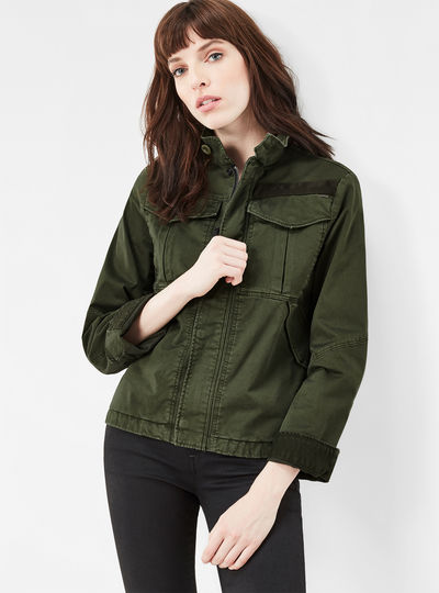 Deline Field Cropped Loose Overshirt