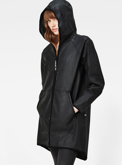 Strett Hooded Long Loose Parka
