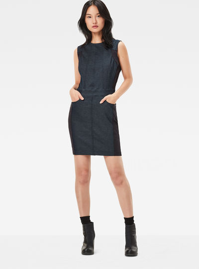 Lynn Navy Slim Dress