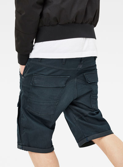 Air Defence 5621 3D Tapered 1/2 Length Shorts
