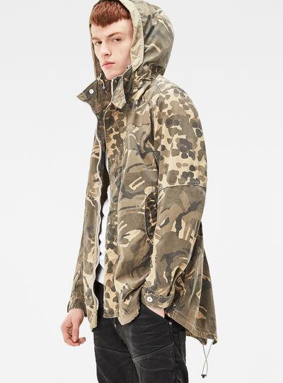 Batt Hooded Short Loose Parka