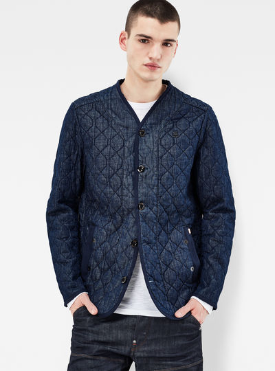 Liner Quilted Slim Overshirt