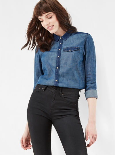 Tacoma PM Boyfriend Cropped Shirt