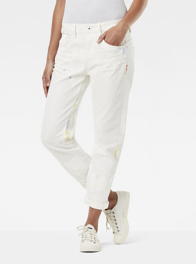 Jean flare blanc femme