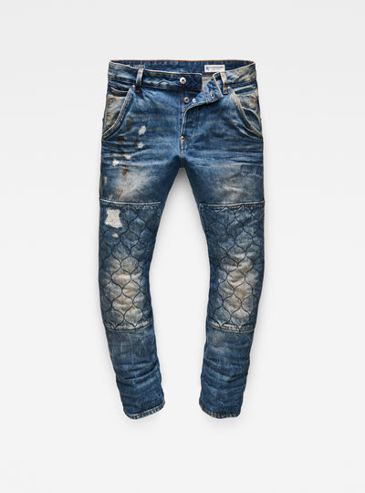 Faeroes Quilted Denim Tapered Jeans