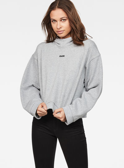 Flemster Relaxed Cropped Hooded Sweater